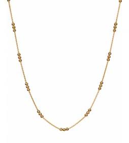 Collar  Essentials Plata bolitas dorado