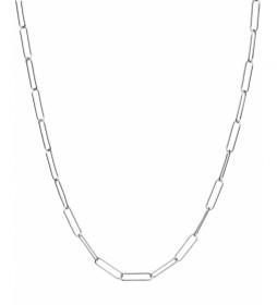 Collar Essentials Plata eslabones grandes plateado