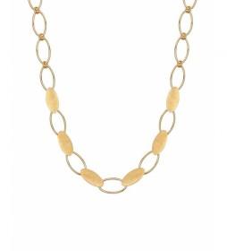 Collar Textures eslabones ovalados oro