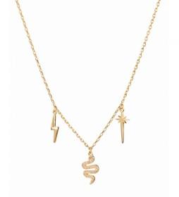 Collar Trendy abalorios oro 18Ktes