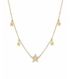 Colgante Trendy cinco estrellas oro 18Ktes