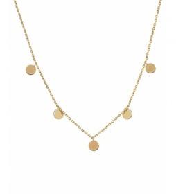 Collar Trendy motivos redondos oro 18Ktes