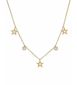 Collar Trendy estrellas y circonitas oro 18Ktes