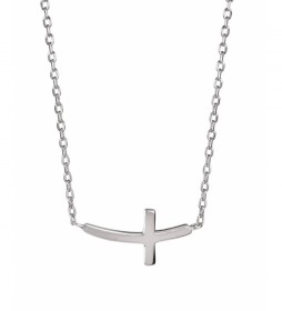 Collar cruz plata