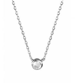 Collar Essentials circonita plata