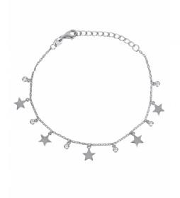 Pulsera Candy Plata estrellas circonita plateado
