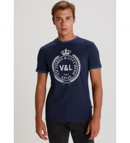 Camiseta Contrastes Logo azul marino