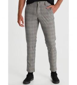 Pantalon Chino Cuadros gris