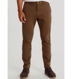 Pantalón Textura marrón