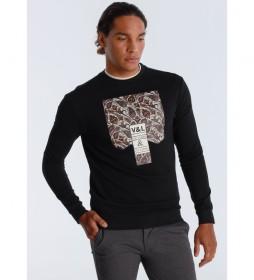 jersey Grafica Paisley negro