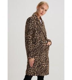 Abrigo Leopard Motivo Royal Circus marrón