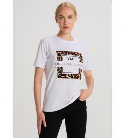 Camiseta  Leopard Velvet  Motiv Royal Circus blanco