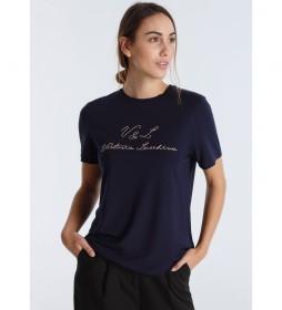 Camiseta manga corta  Luxe String azul marino