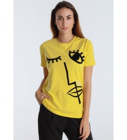 Camiseta Gift  Black Art mostaza
