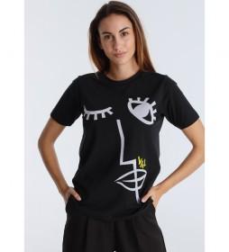 Camiseta Gift  Black Art negro