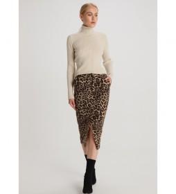 Falda Leopard Motivoroyal Circus marrón