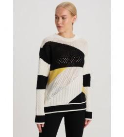 Jersey Block  Black Art blanco, negro, amarillo