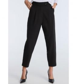 Pantalón Tailor Crepe  High Rise negro