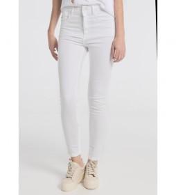 Jeans  tiro alto blanco