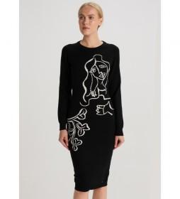 Vestido Tricotosa Black Art negro