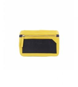Porta móvil de piel Bette amarillo -10,5x17cm-