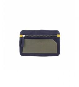 Porta móvil de piel Bette azul -10,5x17cm-
