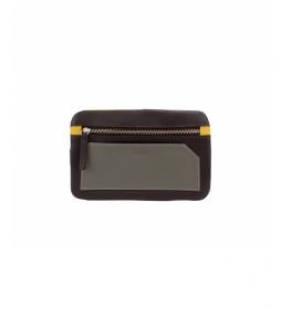 Porta móvil de piel Bette marrón -10,5x17cm-