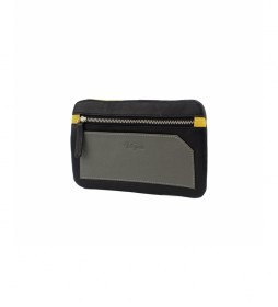 Porta móvil de piel Bette negro -10,5x17cm-