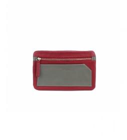 Portamovil de piel nappa bette rojo -10,5x17cm-