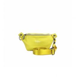 Riñonera Piel Vegana amarillo -18x24x5cm-