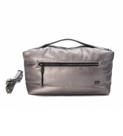 Bolso 086536 gris metalizado - 21 x 35 x 13 cm -