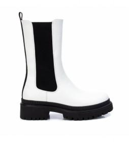 Botas 043456 blanco, negro