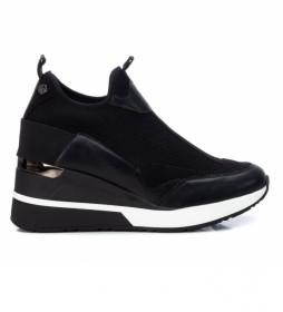 Zapatillas con cuña 043035 negro -Altura cuña 7cm-