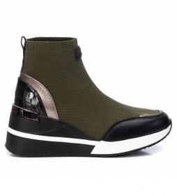Zapatillas con cuña 043271 verde - Altura cuña 6cm -