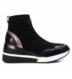 Zapatillas con cuña 043271 negro - Altura cuña 6cm -