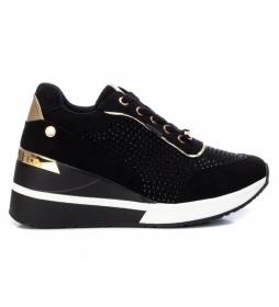 Zapatillas 043422 negro - Altura cuña 7cm -