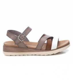 Sandalias 042519 marrón -Altura Cuña: 5cm-