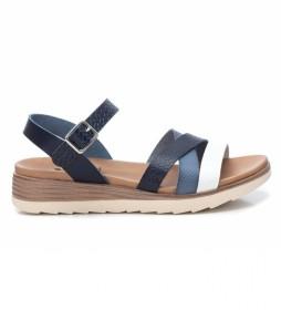 Sandalias 042519 marino -Altura Cuña: 5cm-