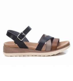 Sandalias 042519 negro -Altura Cuña: 5cm-
