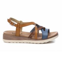 Sandalias 042715 marrón -Altura Cuña: 4cm-