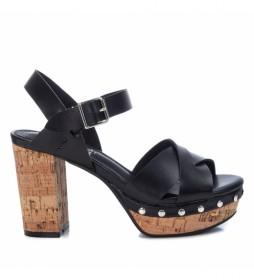 Sandalias 042769 negro -Altura del tacón: 11cm-