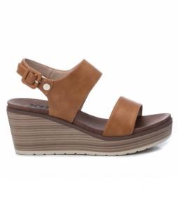 Sandalias 049866 marrón -Altura cuña: 7cm-