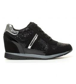Zapatillas Aida negro -Altura cuña: 7 cm-