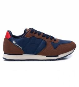 Zapatillas 043259 marino, marrón