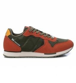 Zapatillas 043259 verde, naranja
