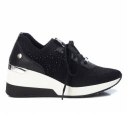 Zapatillas 042593 negro -Altura cuña: 6 cm-