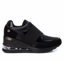 Zapatillas 043210 negro -Altura cuña: 7cm-