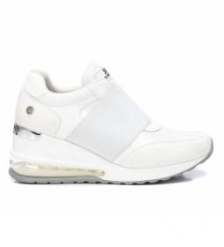 Zapatillas 043210 blanco -Altura cuña: 7cm-