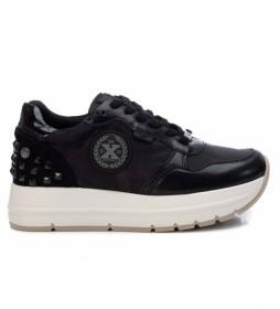 Zapatillas con plataforma 043307 negro