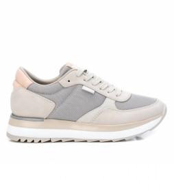 Zapatillas 043436 beige, gris